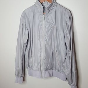 Vintage 80s Lacoste Club Silver/Grey Windbreaker